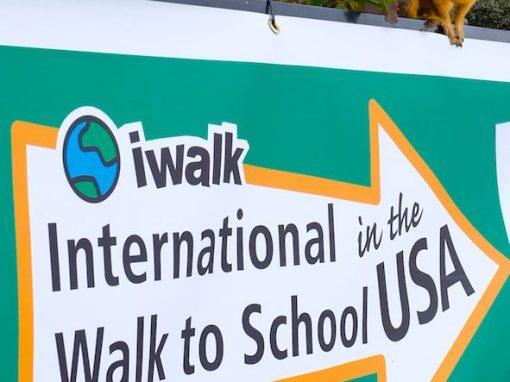 International Walk to School Day At Bixby School