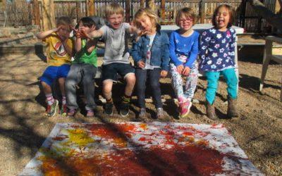 Sensory Painting With Preschool